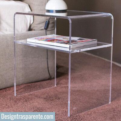 Misure Comodini Moderni.Plexiglass Comodini Moderni In Plexiglass Trasparente Varie Misure Ebay