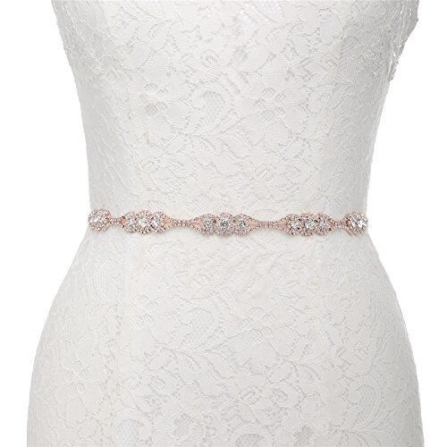 Handmade Thin Crystal Bridal Sash Wedding Belt for Bride Bridesmaid Party Dress