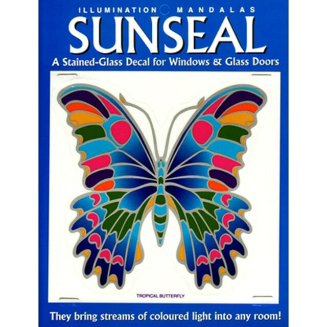 Tropical Butterfly Sunseal Window Decal