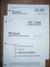 Service schematics per McIntosh MC 2250, ORIGINALE