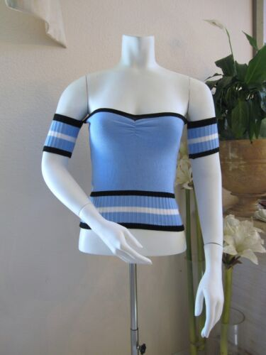 NEW Tube strapless Off shoulder Knit Top with Side Arm Band S M