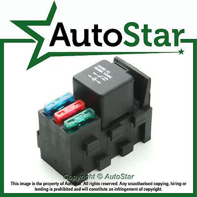 relay & 3 fuse base kit - 4, 5 pin & flasher relays, ato fuses holder  socket box | ebay  ebay