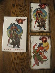 GRIFTER-SHI-Final-Rites-HC-signed-BILLY-TUCCI-Edition-GN-bonus-Comics-1-amp-2-NM