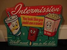 CINEMA THEATER METAL SIGN* movie film coke cola popcorn vintage retro style reel