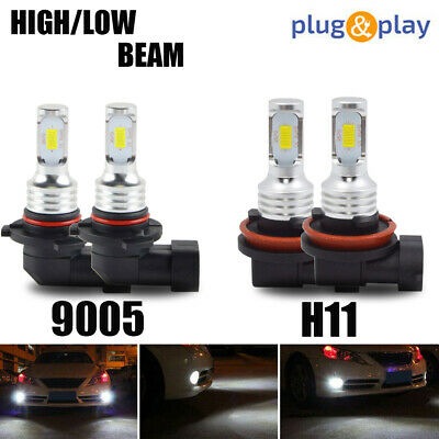 2pcs H8 H9 H11 Car LED Headlight Lights 80W 8000LM 6000K Conversion Kit US