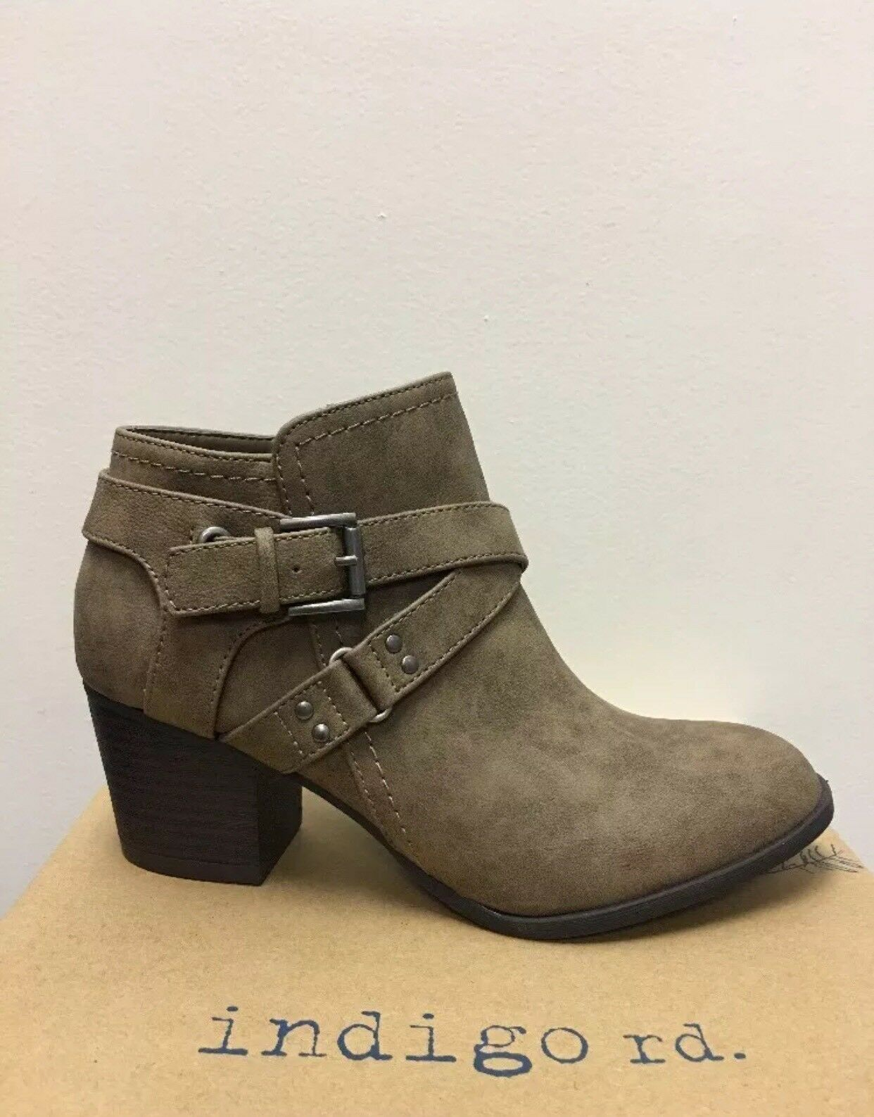 New - Women's Indigo Rd. Sablena2 Dark Brown Ankle Booties Size 9.5