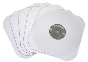 200-12-034-LP-Heavyweight-Record-INNER-SLEEVES-White-Paper-Round-Corners-With-Hole