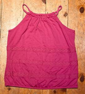 NWT-Old-Navy-Girls-Knit-Tank-Shirt-fuchsia-purple-pink-lace-you-pick-size