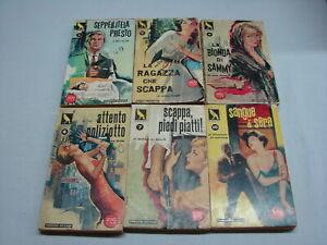 AA-VV-Lotto-6-volumi-Giallo-canarino-titoli-nelle-note-1960-Ponzoni