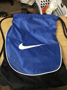 683f97a03226 Image is loading Nike-Swoosh-Drawstring-Training-Gymsack-Backpack-Navy-Blue-