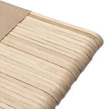 50 Stück Holz Bastelhölzer Holzspatel Eisstiel Holzstiele Modellbau Schöne Neu