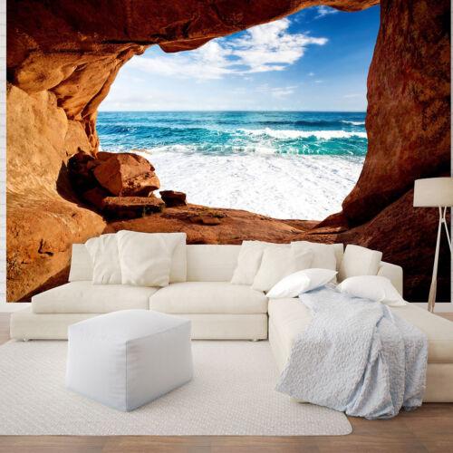 VLIES Fototapeten Fototapete Tapete Natur Grotte  Meer Wasser Himmel  3FX10256VE