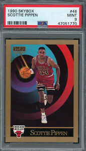 Scottie Pippen Chicago Bulls 1990 Skybox Basketball Card #46 Graded PSA 9 MINT