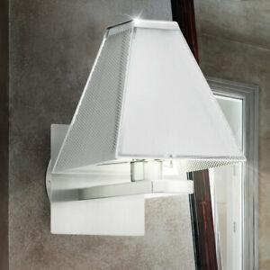 Détails sur Mur Lampe Luxe Salle de Bain Verre Nickel Mat Argent Lampe  Grand Lumière