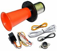 Red Ooga Air Horn Classic 12 Volt W/ Button Relay Install Kit Car Van Auto Boat