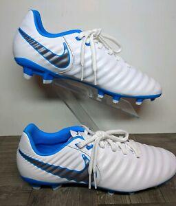 cajón Maduro empleo  New Nike Tiempo Legend VII 7 Academy FG Soccer Cleats White Blue AH7242-107  Sz 7 | eBay