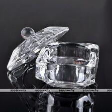 Chic Square Acrylic Glass Nail Art Liquid Dappen Dish Bowl Cup Powder Container