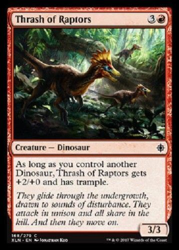 4 x Thrash of Raptors IXALAN COMMON  MINT PACK FRESH UNPLAYED