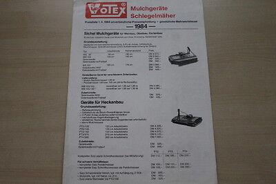 Kataloge & Prospekte Automobilia Liberal 163483 Votex Mulcher Schlegelmäher Prospekt 1984 Ein Unbestimmt Neues Erscheinungsbild GewäHrleisten
