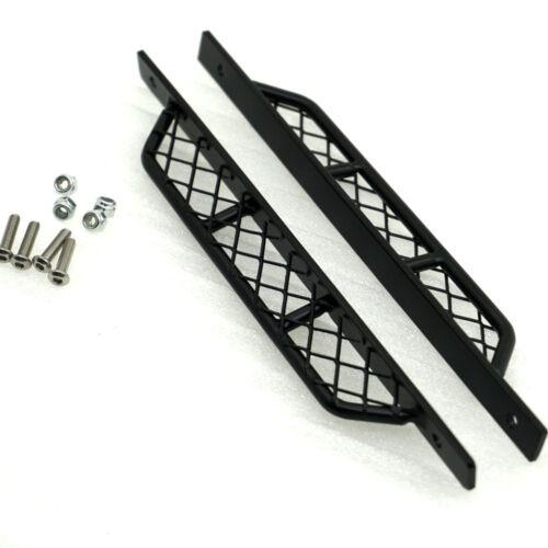 1Pair Black Metal Side Step Sliders for RC 4WD D90 Defender 1:10 RC Crawler