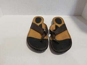 B-O-C-By-Born-Womens-Brown-Leather-Flip-Flop-Sandals-Size-10-M