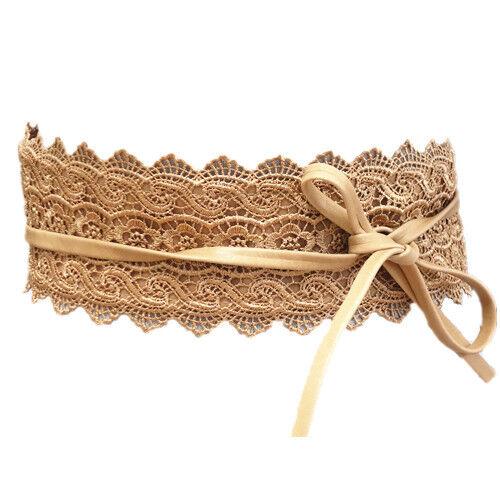 Cintura da donna punta marrone chiaro in vita Cintura fasciatoio Cintura Cintura sa-46
