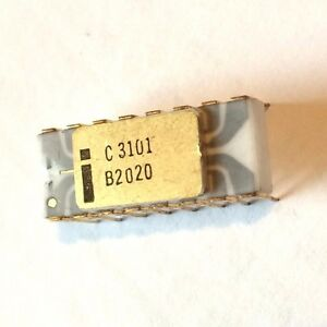 WORLDs-1ST-RAM-INTEL-C3101-GREY-TRACE-OLD-GOLD-VINTAGE-IC-MEMORY-PRE-4004-NOS