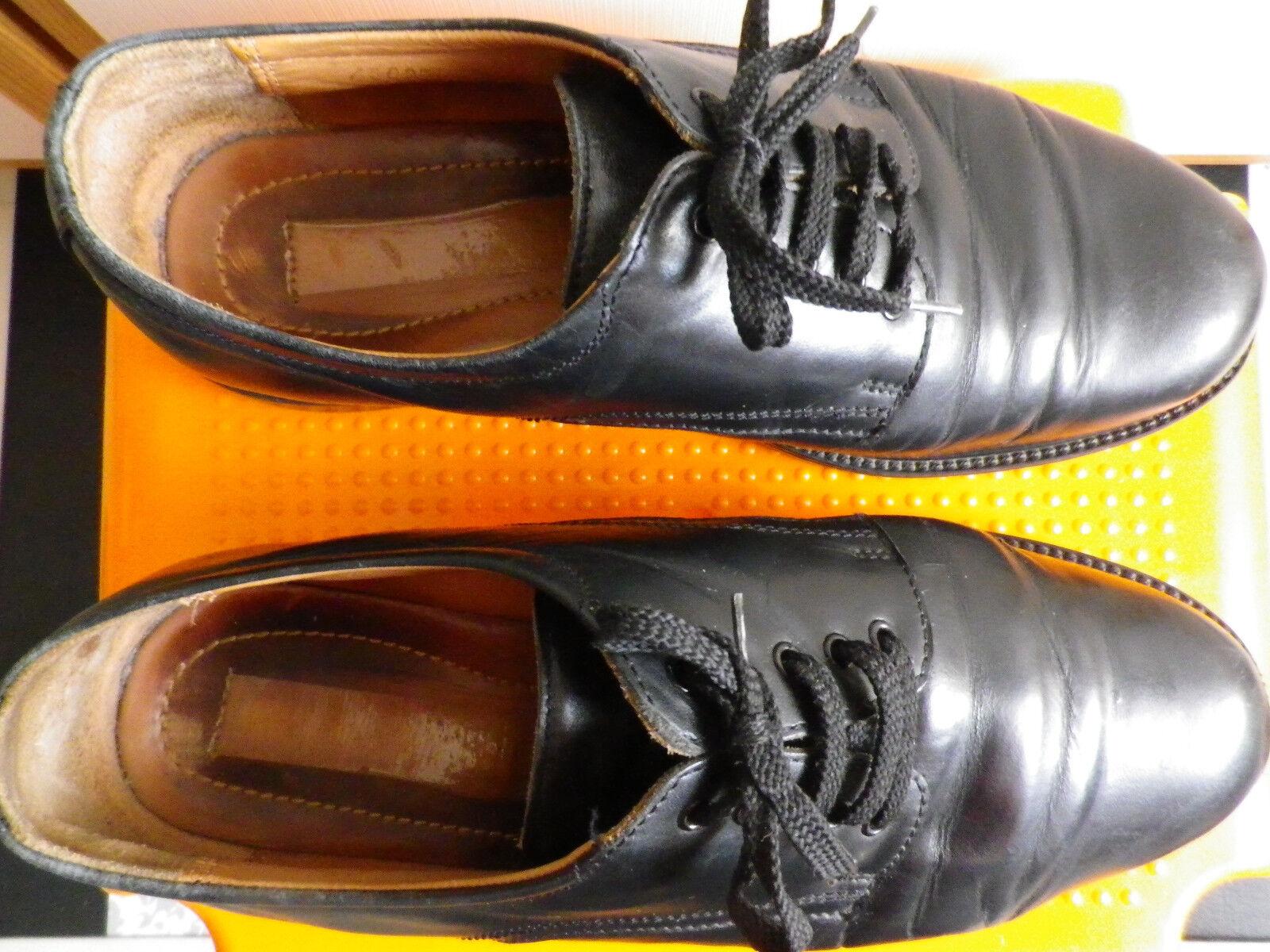Herrenschuhe aus Leder hohe Qualität Größe 42 schwarz weiches edles Leder