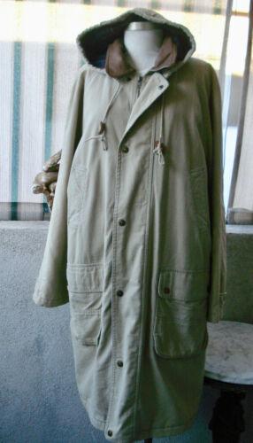 Vintage 1940-50's Men's Khaki Pendelton Overcoat L