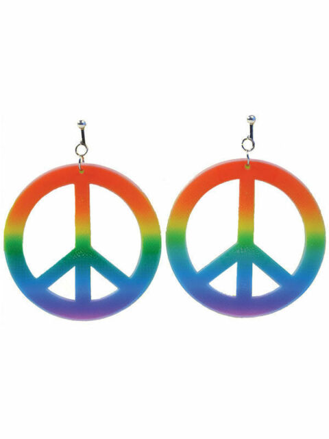 PEACE /& LOVE GLASSES SPECS FANCY DRESS RAINBOW  CND