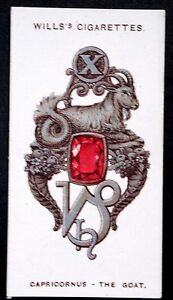 CAPRICORN     Vintage Zodiac Sign Charm Card  VGC - Melbourne, Derbyshire, United Kingdom - CAPRICORN     Vintage Zodiac Sign Charm Card  VGC - Melbourne, Derbyshire, United Kingdom