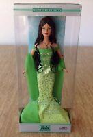 Mattel Barbie 2002 Birthstone Collection August Peridot Brunette Doll Birthday