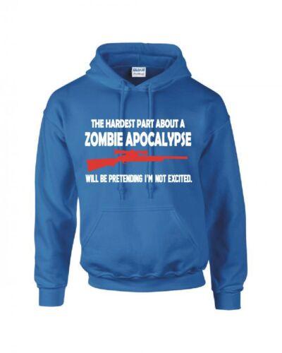 """Zombie Apocalypse /""""Pretending I/'m Not Excited/"""" à capuche nouveau"""