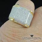 1.5ct Men's 100% Real Genuine Diamond 10k Yellow Gold Pinky Ring Designer Band