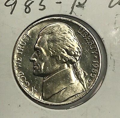 **FREE SHIPPING** 2 COINS 1985 P /& D JEFFERSON NICKEL SET