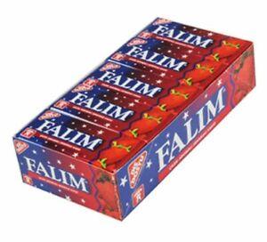 100pcs Original Sans Sucre Fraise Saveur Falim Sugar Free Turc Chewing-gum-afficher Le Titre D'origine