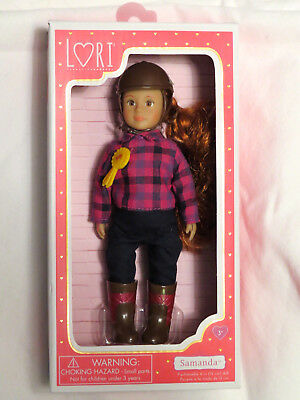 "Lori Doll Horse Riding Philippa Small 6/"" Brunette Hair Brown Eyes Girl NEW"