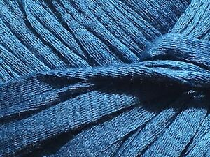 Details about Anny Blatt Colombia #881 Blue 100% Cotton Ribbon Yarn 50Gr  60Yds