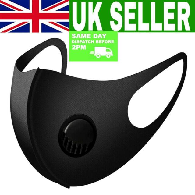 Air Flow Surgical Mask X2 Washable Face Mouth Protection With Filter Uk Seller For Sale Online Ebay