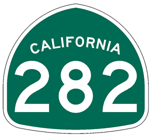 California State Route 282 Sticker Decal R1029 Highway Sign Road Sign