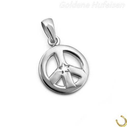 Cristal Peace remolque 925 real plata idea de regalo 251 *