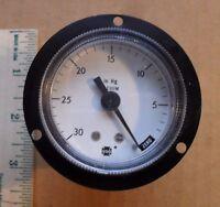 U.s. Gauge Usg 0-30 In Hg 2 Dial Vacuum Gauge - 2-3/4 Overall