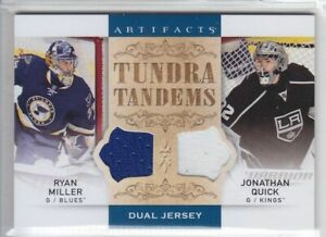 2014-15-UD-ARTIFACTS-MILLER-QUICK-JERSEY-DUAL-Game-Used-TUNDRA-TANDEMS-Kings