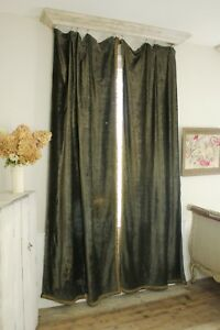Image Is Loading Curtains Set Antique French Chenille C1850 Rich Warm