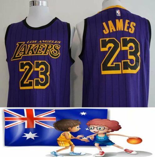 New Los Angeles Lakers LeBron James No.23 Purple Basketball Jerseys Full Size