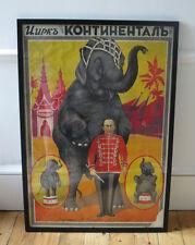 Soviet Russian original Circus poster 1920s Elephant