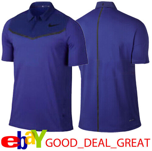 Nike Tiger Woods TW Velocity Max Block Polo Shirt 833163-452 $110 SIZE MEDIUM