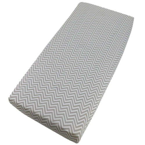 Chevron Fitted Sheet Compatible Jane Babyside Bedside Crib