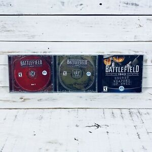 Battlefield 1942 + The Road To Rome + Secret Weapons Of WWII PC-CD Game Bundle