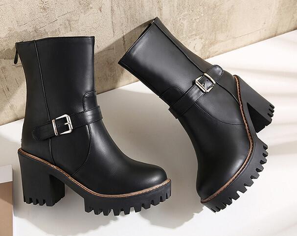 botas tacón de aguja zapatos de tacón negro mujer 8 cm negro tacón cómodo como piel 8555 f13707